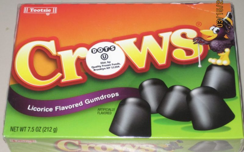 licorice crows halloween candy