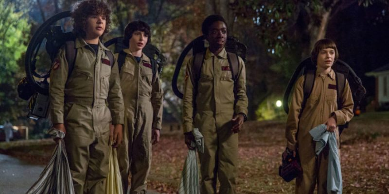 Four male child leads of Stranger Things