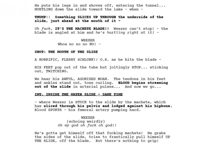 the friday the 13th that never was screenplay summary