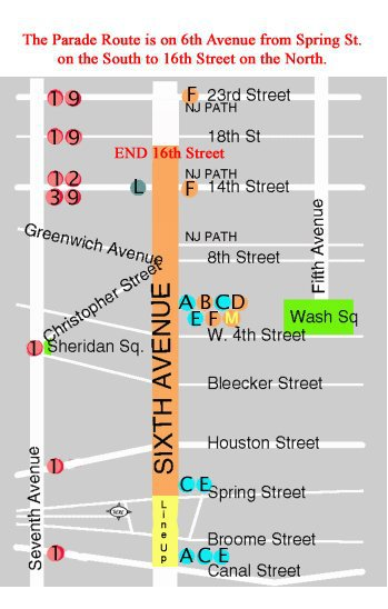 route of Halloween parade