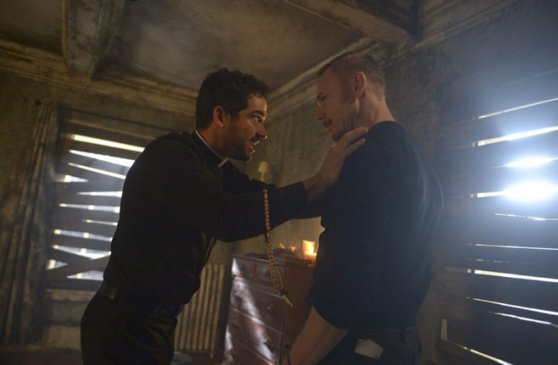 Still of Alfonso Herrera and Ben Daniels in The Exorcist episode 2x08