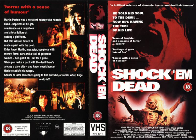 traci lords shock em dead vhs cover