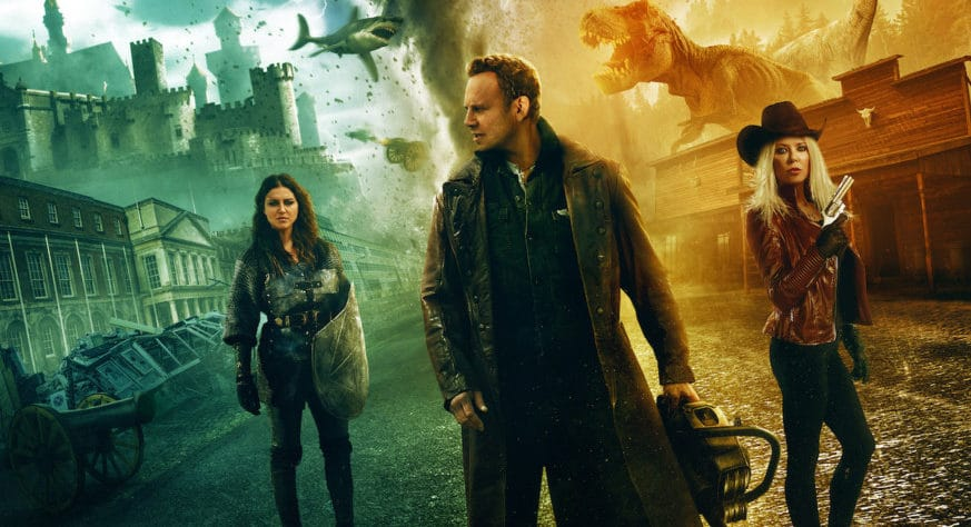 """Final Poster for THE LAST SHARKNADO: IT'S ABOUT TIME Promises """"History's Biggest Disaster Comes to an End"""""""