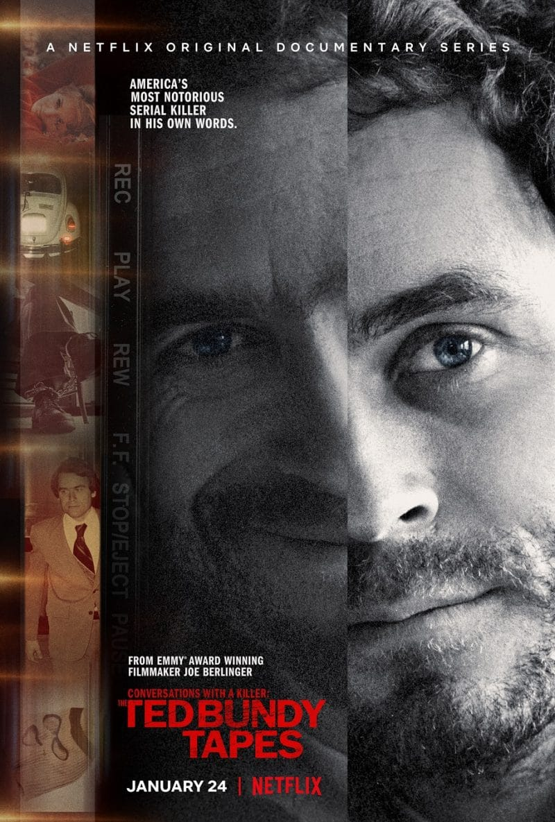 Ted Bundy Tapes Poster conversations with a killer netflix