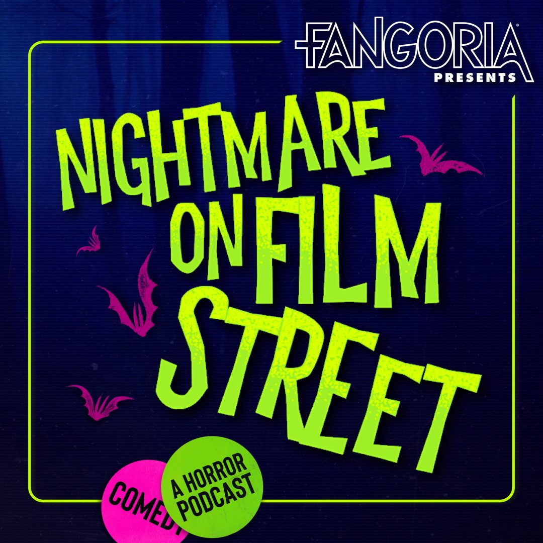 nightmare on film street horror movie podcast logo