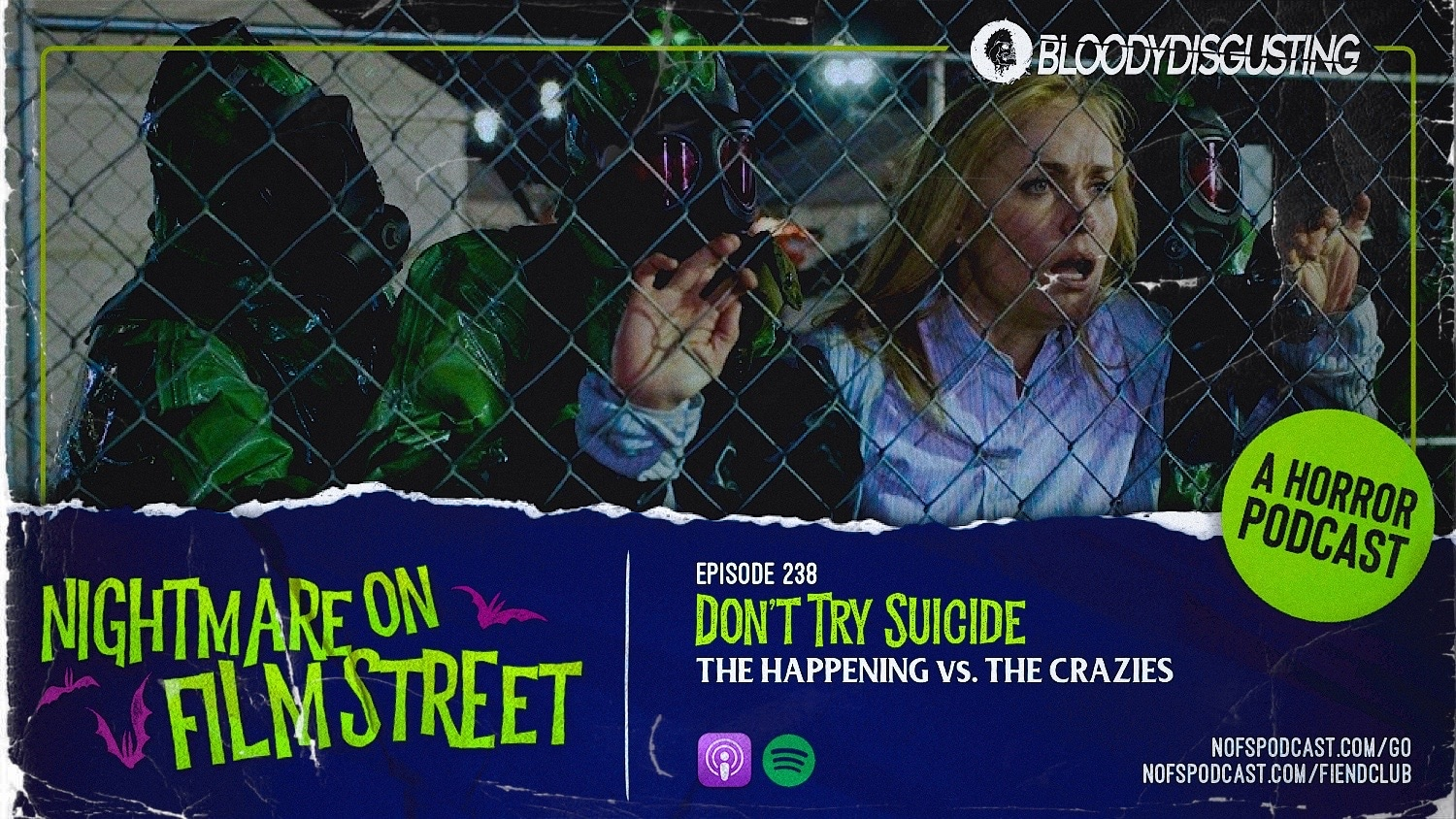horror movie podcast nightmare on film street the happening the crazies