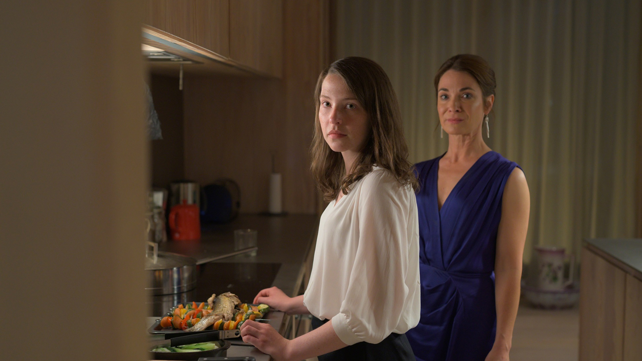 Annes Elwy and Nia Roberts in The Feast