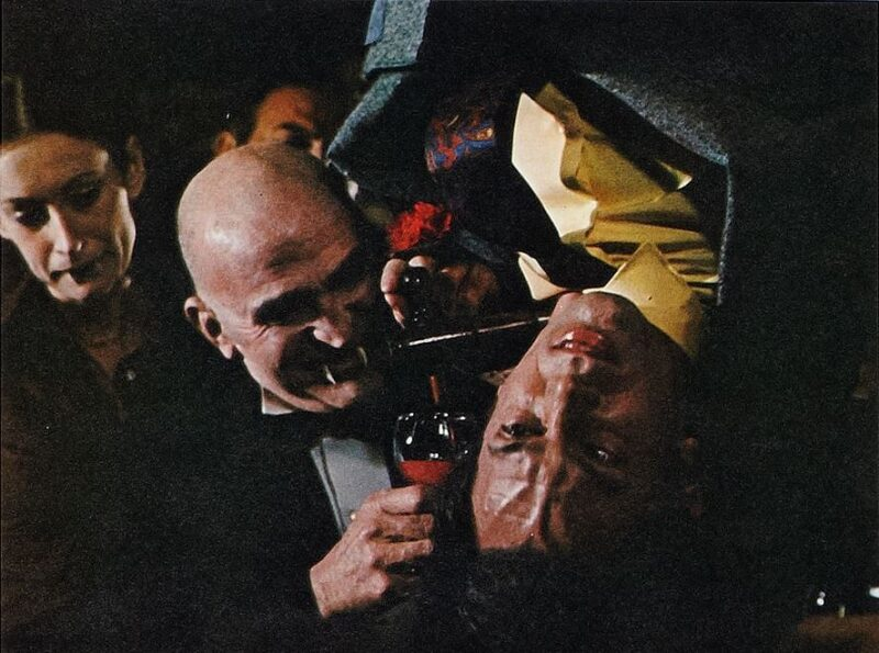 Harold Rogers is drained of his blood in The Vault of Horror