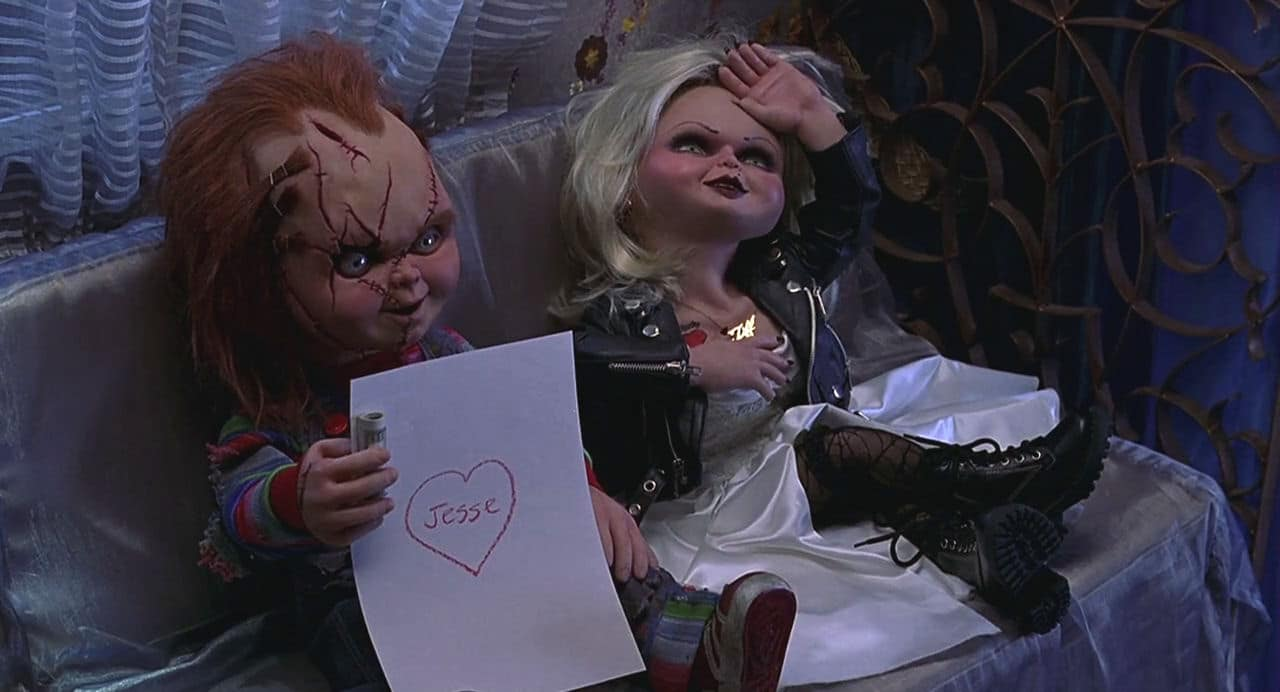 Bride of Chucky - dolls with note